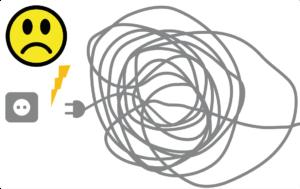 Netzkabel vom Rasenmäher