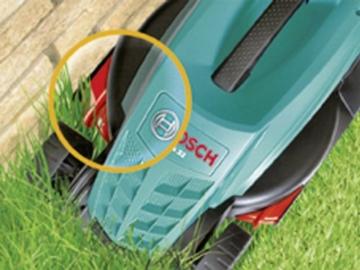 Bosch Rasenmäher Rotak 32 mit Rasenkamm