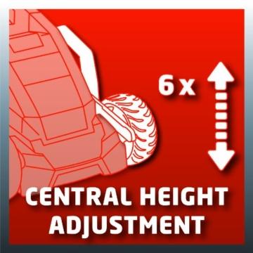 zentrale Höhenverstellung des GE-CM 36von Einhell