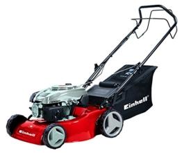 Einhell Benzin Rasenmäher GC-PM 46/3 S (46 cm Schnittbreite, 5-fach zentral Schnitthöhenverstellung 30-70 mm, 55 L Fangsackvolumen) -