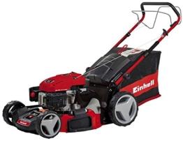 Einhell Benzin Rasenmäher GC-PM 47 S HW (1,8 kW, 139 cm³, Schnittbreite: 47 cm, zentrale Schnitthöhenverstellung: 6 Stufen | 25 - 70 mm) -