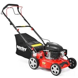 HECHT Benzin-Rasenmäher 541 SW Benzin-Mäher (3,5 PS Motorleistung, 40,6 cm Schnittbreite, 6-fache Schnitthöhenverstellung 25-75 mm, 40 L Fangsack) -